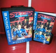 Md game card ruas de rage 3 eur capa com caixa e manual para sega megadrive genesis console de videogame 16 bit md card