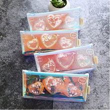 Into The Oil Quicksand Laser Colorful Pencil Case Pencil Bags Kawaii Pencil Pouch Korea Pen Case Stationery Gift School Supplies 1 pc laser colorful love pencil case kawaii pencil bags cute pencil pouch korea pen case stationery gift school supplies