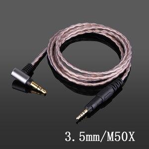 Image 1 - ATH M50X M40X M60X M70X 등 헤드폰 업그레이드 케이블 4.4mm 2.5mm 밸런스 케이블 3.5mm 스테레오 100% 단결정 구리선