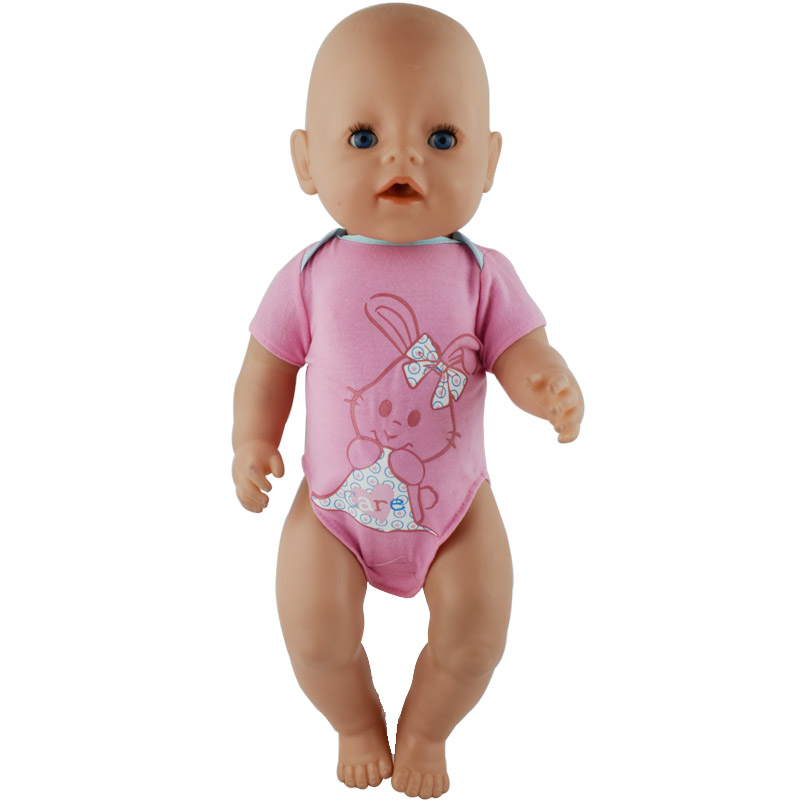 1pcs Fashion Short Jump Suit For 17 Inch Baby Doll 43cm Clothes