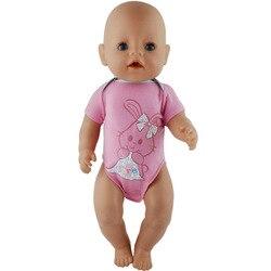 1 pçs moda curto salto terno para 17 Polegada bebê boneca 43cm roupas