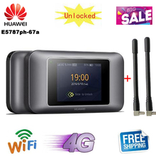 Разблокированный huawei E5787 E5787Ph-67a 4G LTE Cat6 мобильный WiFi точка доступа 3000 мАч батарея с 2 шт антенны 4G портативный маршрутизатор
