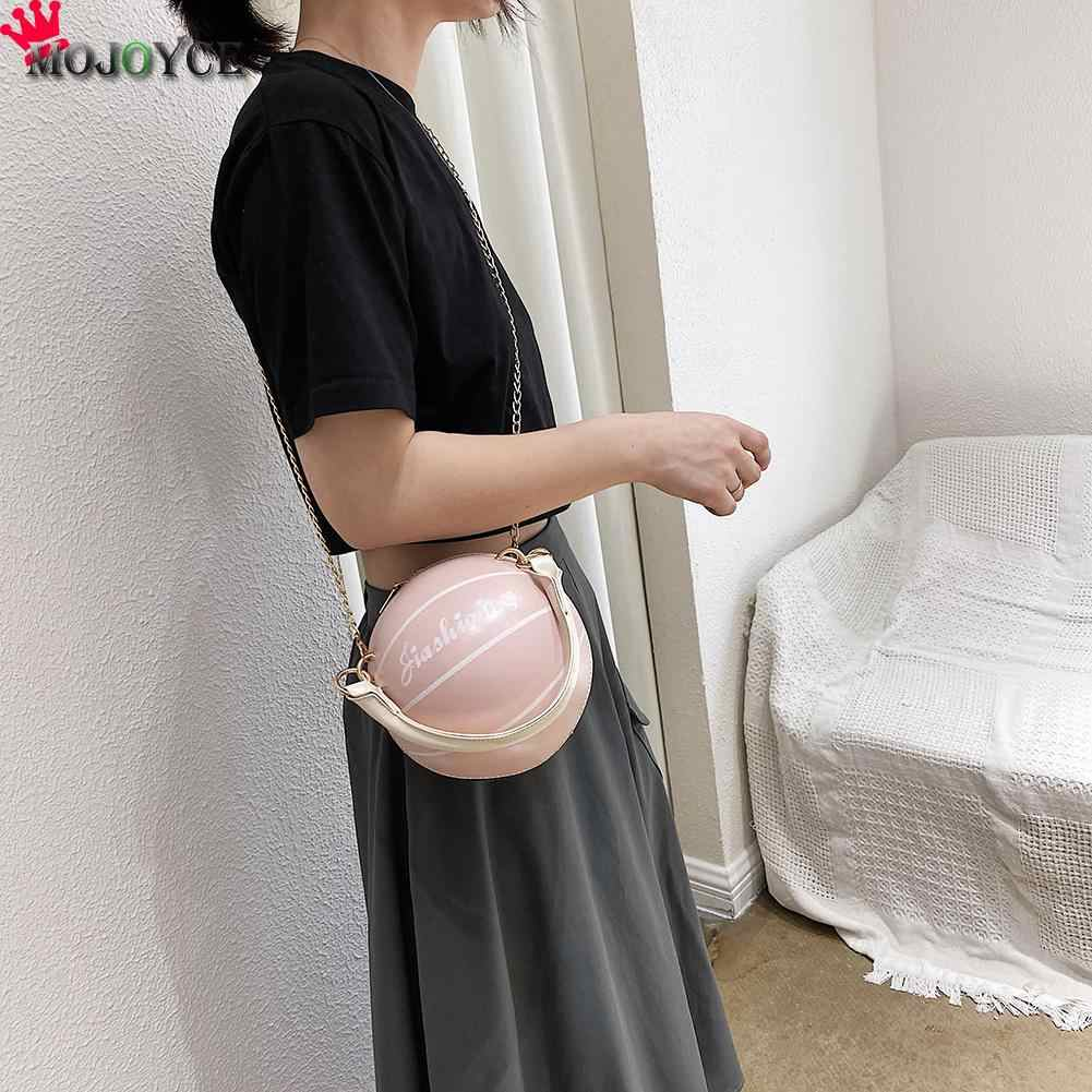Basketball Runde Geformte PU Leder Schulter Taschen für Frauen Casual Kleine Totes Geldbeutel Reisetasche Messenger Crossbody Handtaschen
