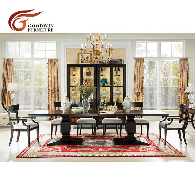Luxury Elegant Long Dining Table Designs And 10 Fabric Dining