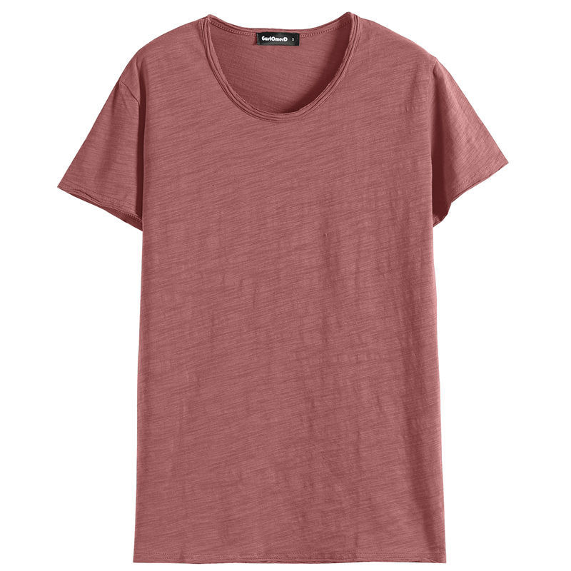 Mannen T shirt Ronde Hals Slanke Mannen Half Mouwen Strakke Lichaam Shirt