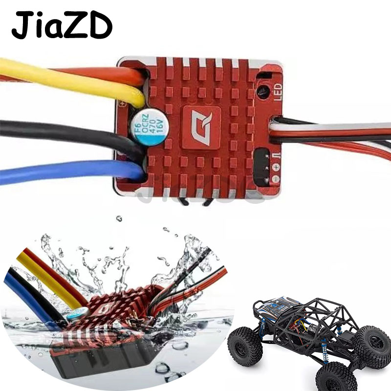 Hobbywing QuicRun 1080 Waterproof Brushed 80A ESC + Program Card For Crawler Children Kids Toys Brushed ESC RC Car Waterproof Y9 image