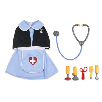 Children Boys Doctor Cosplay Costumes Halloween Carnival Birthday Gift Kids Girls Hospital Lab Medical Uniform Nurse Gown women s lab coat mock wrap doctor nurse beautician jacket medical uniform long sleeves notched collar nurse dress