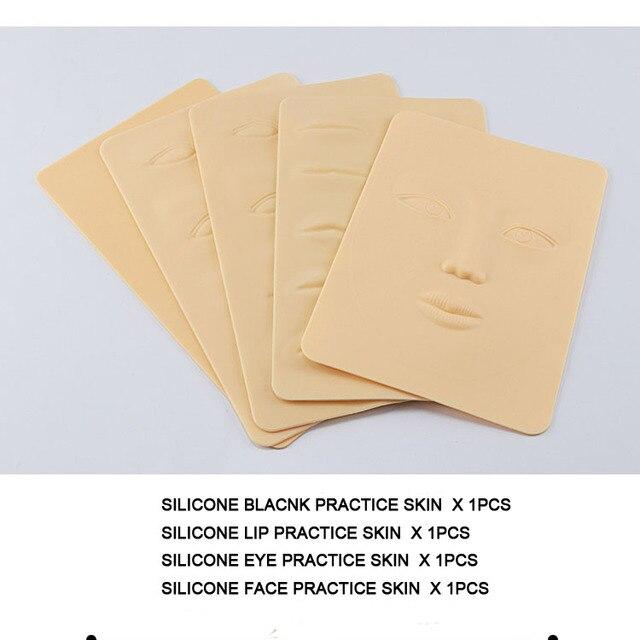 Permanente Make-Up Levert Microblading Set Professionele Tattoo Training Wenkbrauw Lip Tattoo Praktijk Kit Voor Body Art Beginner