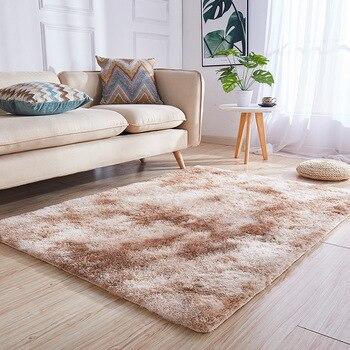 Alfombras mullidas antideslizante alfombra de área peluda ...