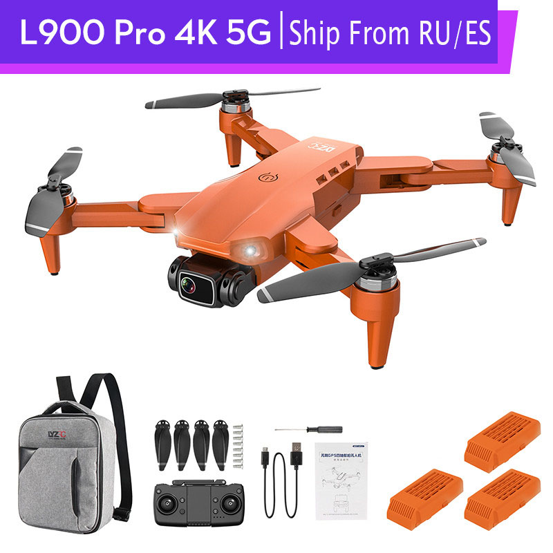 GPS L900 PRO 4K дрона с дистанционным управлением с Камера Дрон 2-axis FPV 5G Квадрокоптер бесщеточный мотор 1,2 км 28 минут полета Профессиональный RC вер...