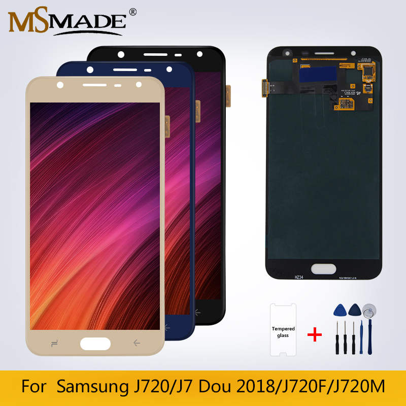 J720 Original LCD For <font><b>Samsung</b></font> <font><b>Galaxy</b></font> <font><b>J7</b></font> Dou <font><b>2018</b></font> <font><b>Display</b></font> J720M J720F LCD <font><b>Display</b></font> Touch Screen Digitizer Replacement Parts 5.5'' image