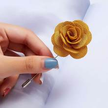 New Colored Camellia Cloth Flower Word Pin Brooch 5 Colors Handmade Boutonniere Brooch Pin for Women Lapel Brooch Jewelry Gifts(China)