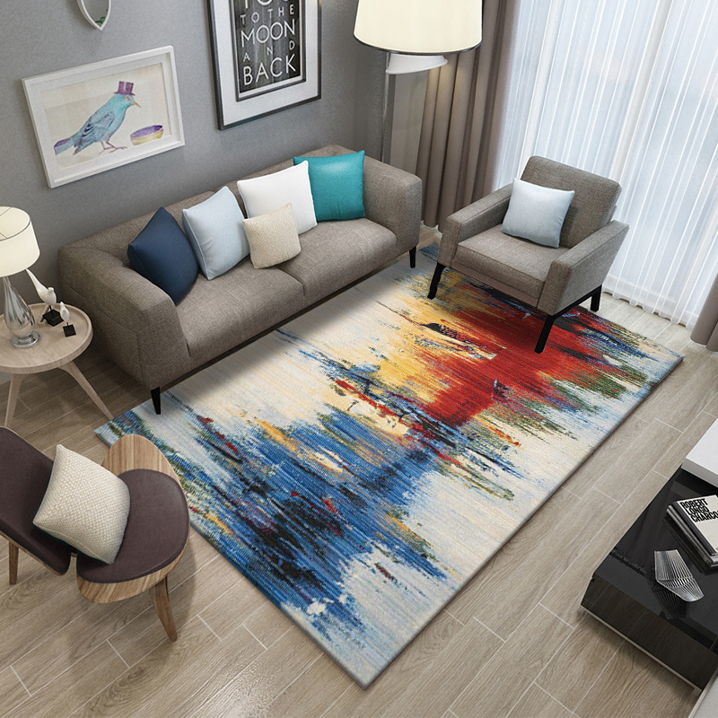 Image 3 - Simple Carpet Rug For Living Room Geometric Wood Floor Rug Non slip Antifouling Carpet For Bedroom Parlor Factory Direct Supply-in Carpet from Home & Garden