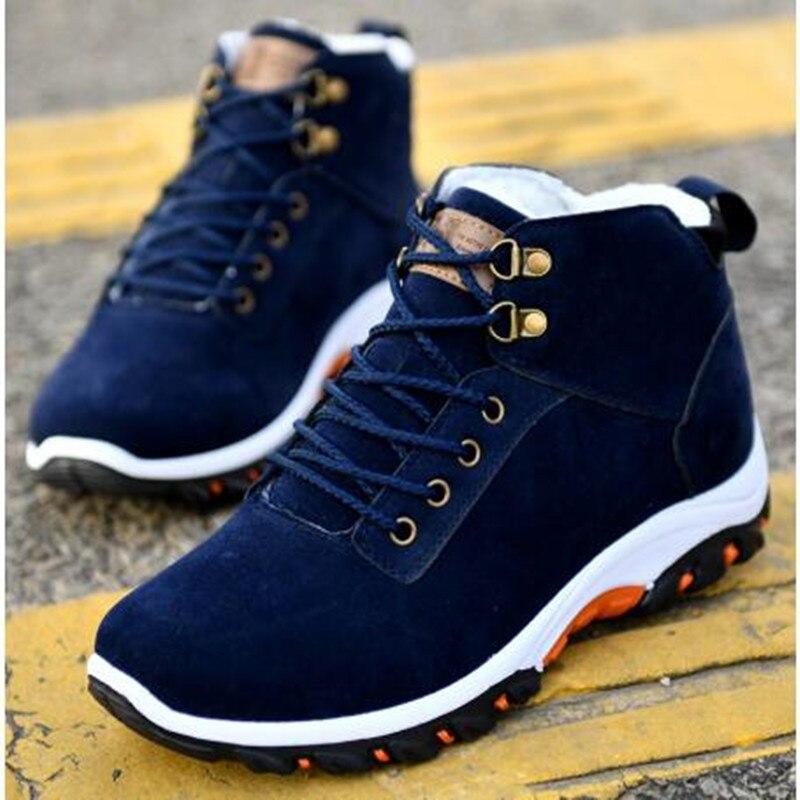 AGUTZM новые зимние мужские ботинки, Повседневная модная обувь, мужская зимняя теплая хлопковая обувь, уличные ботильоны, кроссовки Y847
