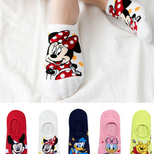 Summer Socks Animal Funny Invisible Bear Korea Cotton Women Cartoon Cute 5-Pairs Size-35-41