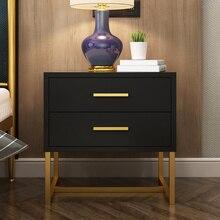 Скандинавские краски прикроватный столик железный шкаф спальня шкафчики современный минималистский роскошный диван несколько