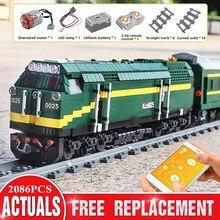 Kids Toy Mould King City Electric-Train Building-Blocks Track-Railway High-Tech Nj2-Type