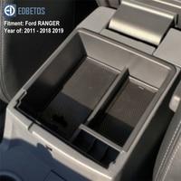 Caixa de apoio de braço para ford ranger 2011 - 2016 2017 2018 2019 estendido wildtrak console recipiente titular bandeja organizador do carro acessórios