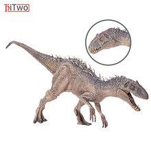 Hitwo jurássico indominus rex figuras de ação boca aberta selvagem tyrannosaurus dinossauro mundo animais modelo brinquedo para crianças presente