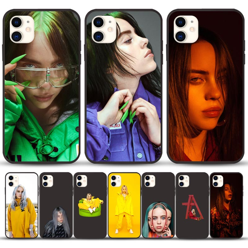 Luxury Billie eilish Singer girl For iPhone X XR XS Max 6 6S 7 8 Plus phone Case for iphone 11 Pro Max Cover phone Funda Coque