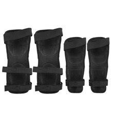1 пара наколенники/налокотники черные мотоциклетные дышащие защитные велосипедные подушки