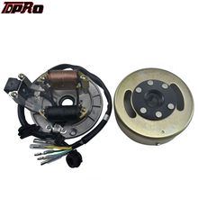 TDPRO Motorcycle Ignition Magneto Stator Plate Pad Flywheel Rotor For Honda CRF50 XR100 50cc 110cc 125cc Engines Pit Dirt Bike high performance magneto stator rotor flywheel kit for motorcycle lifan 110cc 125cc 140cc 150cc ssr sdg pitbike