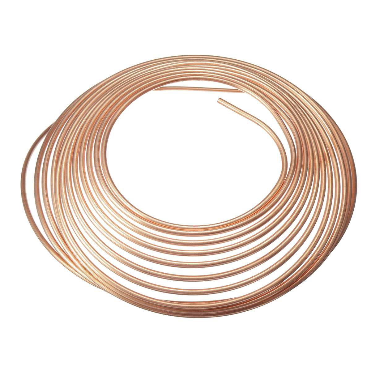 25ft 7.62m Roll Tube Coil Of 3/16 OD Copper Nickel Brake Pipe Hose Line Piping Tube Anti-rust
