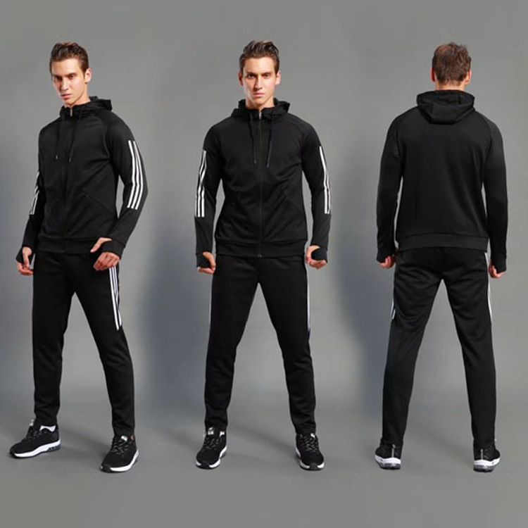 Basketball Football Appearance Training Suit Set Long Sleeve Soccer Uniform Coat Riding Running Fitness Two-Piece Set Sports Clo