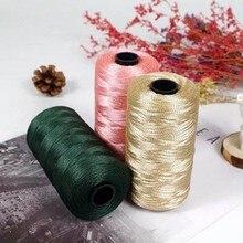 100g/rool Summer Crochet Yarn Satin Webbing Designed Blended Fancy Yarn For DIY Hat Handbag