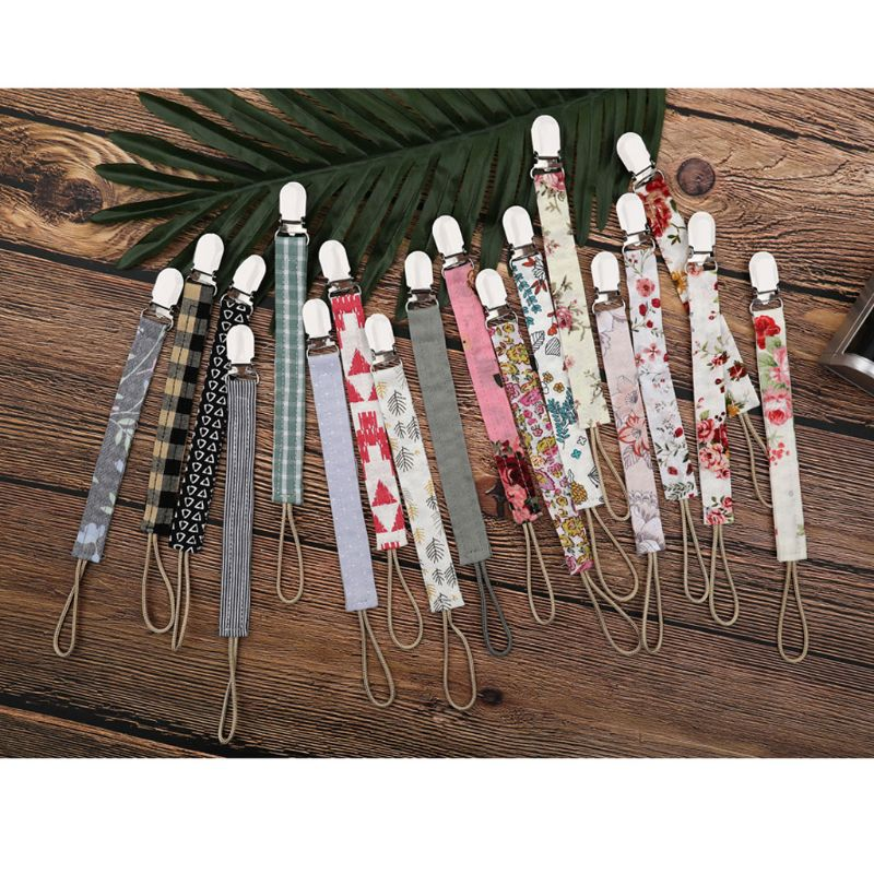 Dummy Clips Pacifier Clips Pacifier Clip Chain Cotton Linen Baby Teething Holder