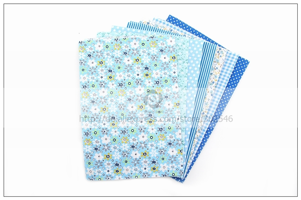 Ha46454ac61a44d44bd0968bac553c264k 7pcs 24x24cm Mixed Printed Cotton Sewing Quilting Fabrics Basic Quality for Patchwork Needlework DIY Handmade Cloth