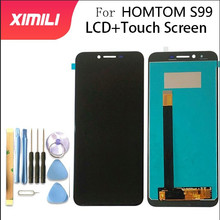 5.5 calowy wyświetlacz LCD HOMTOM S99 + montaż digitizera ekranu dotykowego 100% oryginalny nowy LCD + dotykowy Digitizer dla S99 + narzędzia