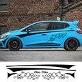 8 шт. гоночный автомобиль наклейки для Renault Clio виниловые наклейки для укладки волос линия талии в полоску Авто дверные ручки по индивидуальн...