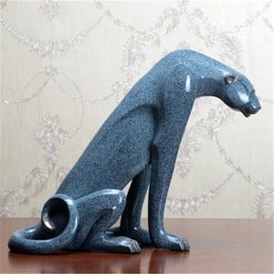 Retro Geometric Panther Statue