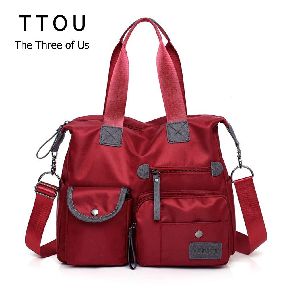 TTOU New Ladies Fashion Multifunction Waterproof Oxford Tote Bag Casual Nylon Shoulder Bag Mummy Bag Large Capacity Canvas Bag