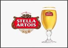 Stella artois cerveja sinal de metal homem caverna pub bar bebida pub placa festa presente