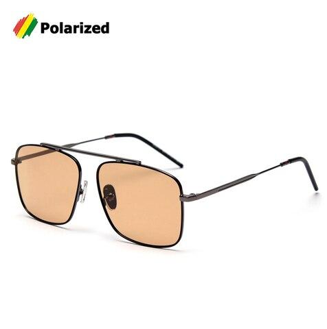 Quadrado do Vintage da Moda de Metal Óculos de Design da Marca Óculos de Sol Oculos de Sol Jackjad Estilo Piloto Óculos Polarizados Condução Homens Sk25121
