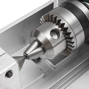 Image 5 - 100w cnc mini torno máquina de ferramentas diy carpintaria madeira torno fresadoras de moagem grânulos de polimento broca conjunto de ferramentas rotativas k