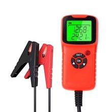 Carregador de bateria de carro testador analisador 12v 2000cca teste tensão da bateria carga circuito testador diagnóstico automático