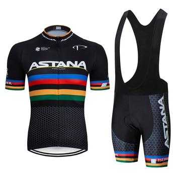¡Novedad de 2019! Maillot de Ciclismo de Astana, campeón del mundo, uci,...