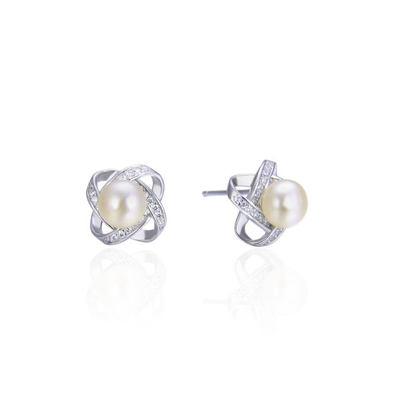 Usine Direct corée nouveaux accessoires S925 en argent Sterling perle boucles d'oreilles femmes Zircon oreille bijoux