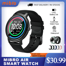 Mibro Air Smart Watch Men Women IP68 Waterproof Bluetooth 5 Sleep Monitor Fitness Heart Rate Tracker SmartWatch Android IOS cheap CN(Origin) Android Wear Proprietary OS Android OS On Wrist All Compatible 128MB Passometer Fitness Tracker Sleep Tracker
