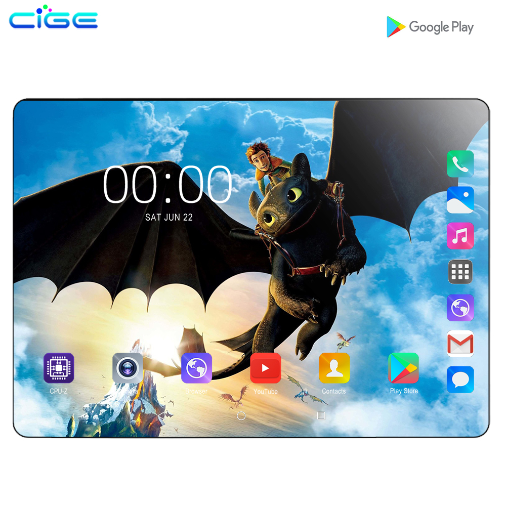 Mx960 10.1 Inch Tablet PC Android 9.0 6GB RAM 128GB ROM 8 Core 3G WCDMA 4G LTE Dual SIM Card Phone Call Tablets GPS FM Bluetooth