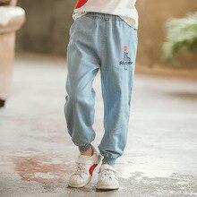 2019 New Boys Clothing Cowboy Jean Pants Summer Soft Denim Harem Pants Elastic Waist Solid Color Sport Girls Clothes Outfit