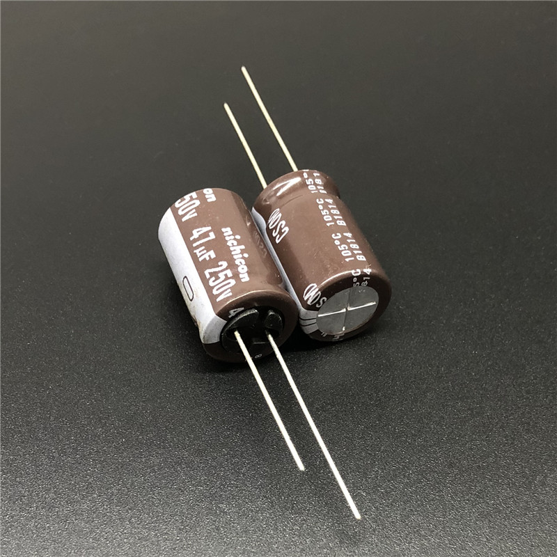 5pcs/50pcs 47uF 250V NICHICON CS Series 12.5x20mm High Ripple Current High Reliability 250V47uF Aluminum Electrolytic Capacitor