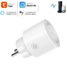 Mini 16A UE Spina con Presa di Alimentazione del Monitor Presa Wifi Intelligente Funziona con Google Casa Alexa IFTTT Controllo Vocale