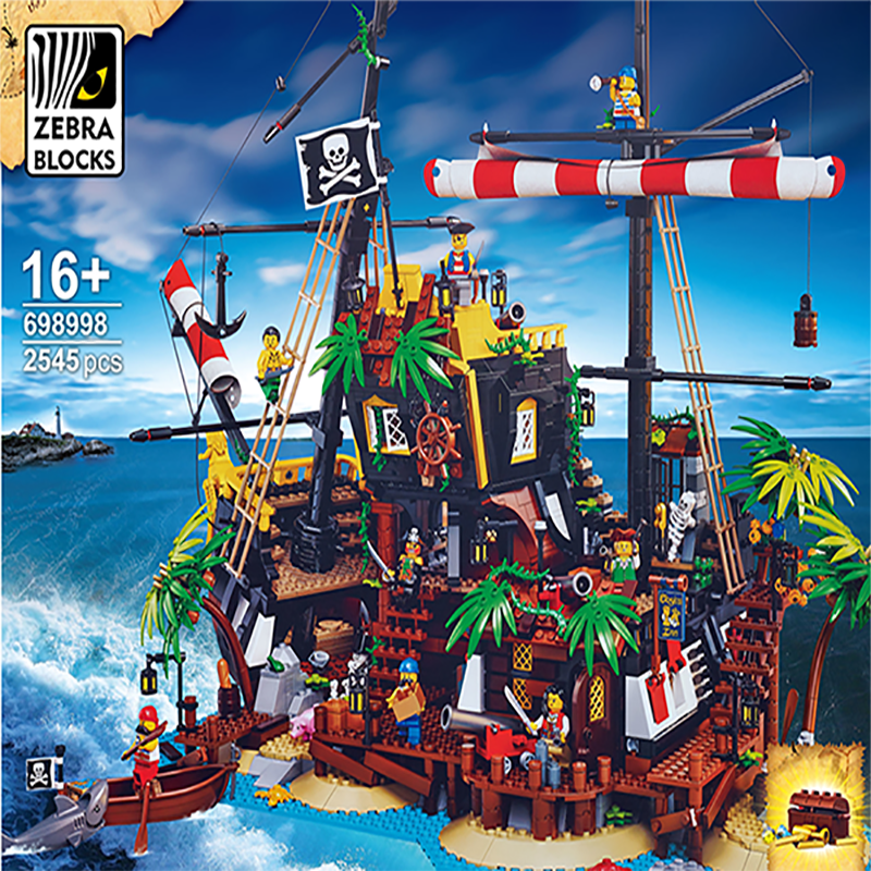 New Ideas Pirates Of Barracuda Bay Building Blocks Bricks Compatible 21322 Boys Girl Toys Gift Birthday Gifts Christmas Gift