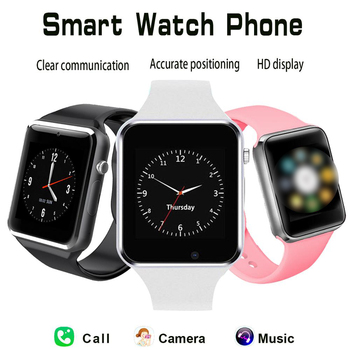 Sport Smart Watch Women Bluetooth Sync Notifier Support SIM TF Connectivity for Apple Android Phone Watch Camera Smartwatch A1 smart watch man clock support sim tf card sync notifier bluetooth connectivity phone men s alloy new smartwatch for android ios