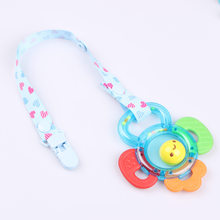 1pc Baby Pacifier Chain Clip Holder Nursing Teether Dummy Soother Nipple Leash Strap Baby Gift Babe Care(China)