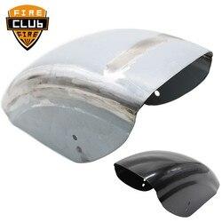 Black ChromeMud Guard Bobber Cafe Racer Mudguard Cover Protection Short Flat Rear Fender For Harley Sportster XL 883 1200 48 72